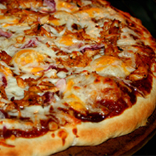 bbq chicken woodpecker pizza